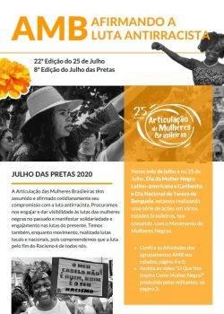 Capa de AMB Reafirmando a Luta Antirracista – Boletim JUL 2020