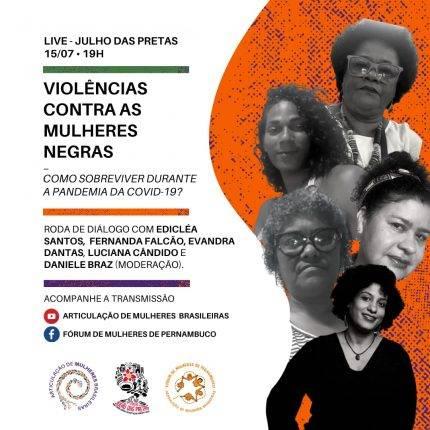 AMB e FMPE realizam live sobre violência contra a mulher neste Julho das Pretas